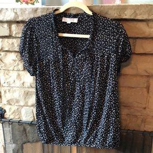 Polka dotted LOFT blouse